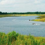 At approximately 112 surface-acres, the impoundment provides a rare opportunity for fisheries research on a controlled private lake