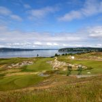 Chambers Bay Golf Course Home of the 2015 US Open on former Glacier Sand and Gravel site in Steilacoom, WA