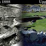 Old Works Golf Course. Upper Works circa 1888 & Upper Works Today