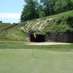 (After) - Hole #6 with former coal mine adit that takes you to #7 Tee